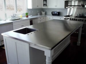 What is the effect of oven cleaners on kitchen counter top